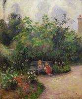 A Corner of the Garden at the Hermitage, Pontoise,