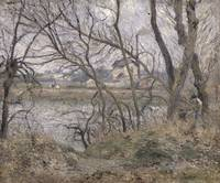 The Banks of the Oise, near Pontoise, Cloudy Weath