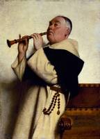 Monk Playing a Clarinet