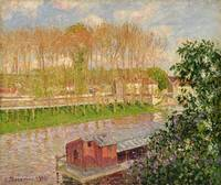 Sunset at Moret sur Loing, 1901