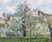 The Vegetable Garden with Trees in Blossom, Spring