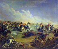 The Guard hussars attacking near Warsaw on August