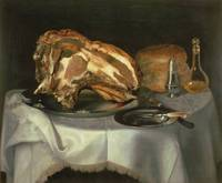 Still Life with Joint of Beef on a Pewter Dish, c.