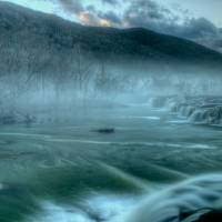 Mist on the Falls Art Prints & Posters by Stephen Durrenberger