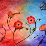 """Vibrant Poppies"" by mkanvinde"