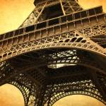 """Eiffel Tower - Vintage Textures"" by Groecar"
