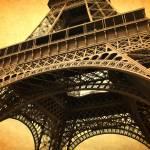"""Eiffel Tower - Vintage Textures"" by Groecar"