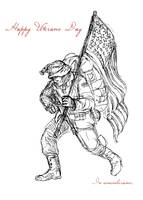 American Veterans Day Remembrance Greeting Card