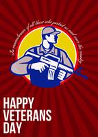 Modern Soldier Veterans Day Greeting Card Side