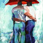 """Rain bears Under Red Umbrella"" by RDRiccoboni"