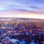 """City Lights Boulder Colorado Panorama"" by lightningman"