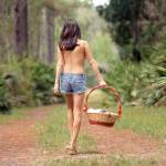 """Pretty Seminude Brunette Outdoors (3)"" by CSPmedia"