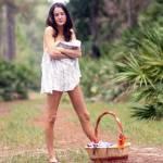 """Pretty Seminude Brunette Outdoors (8)"" by CSPmedia"