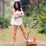 """Pretty Seminude Brunette Outdoors (7)"" by CSPmedia"
