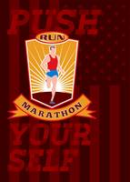 Marathon Runner Push Yourself Poster Front