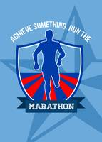 Run Marathon Achieve Something Poster