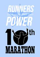 10th Marathon Race Poster