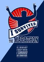 Marathon Runner Survived Poster Retro