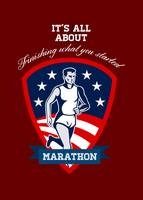 Marathon Runner Finish What You Start Poster