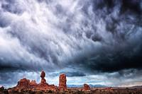 Stormy Landscape at Arches National Park