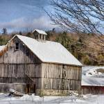 """Berkshire Barn In Winter"" by DBenoit"