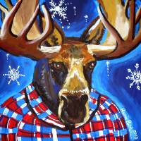 Mahatma Moose Art Prints & Posters by Renie Britenbucher