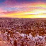"""Boulder Colorado Sunrise Wide Panorama View"" by lightningman"