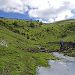 """Crossing the Stream in Cressbrook Dale (34798-RDA)"" by rodjohnson"