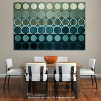 Circles and Squares 40. Modern Abstract Fine Art.-