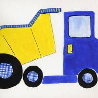 dump truck Art Prints & Posters by Christine Quimby