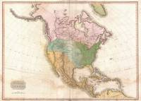 Vintage Map of North America (1818)