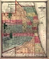Vintage Map of Chicago (1875)