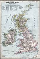 Vintage Map of British Isles (1905)