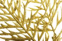 Picture of a gold separate twig, close up. Over wh