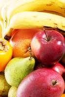Close up on fruit composition- apples, peaches and