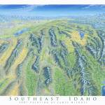 """Southeast Idaho"" by jamesniehuesmaps"