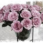 """Romantic Mauve Roses - Digital Art"" by Groecar"