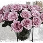 """""""Romantic Mauve Roses - Digital Art"""" by Groecar"""