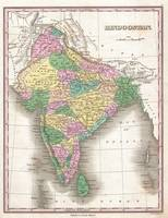 Vintage Map of India (1827)
