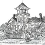 """Sherman Gilbert House San Diego California"" by BeaconArtWorksCorporation"