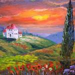 """Tuscany Fire Sky"" by mazz"