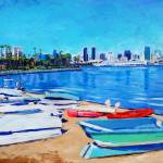 """Dinghy Beach Coronado Island"" by BeaconArtWorksCorporation"