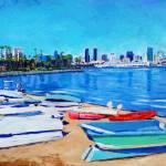 """Dinghy Beach Coronado Island"" by BeaconArtWorksCorporation"