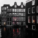 """Amsterdam Canal in Evening P8260058_edit"" by AndreHugosPlace"