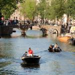 """Small Boats on Amsterdam Canal DSC_0122"" by AndreHugosPlace"