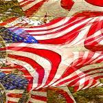 """P14-05RA Flag USA Maple Trees"" by raBHA2014"