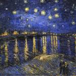 """Vincent Van Gogh Starry Night Over The Rhone"" by masterpiecesofart"