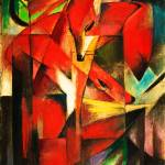 """Franz Marc The Foxes Red Fox Modern Art Painting"" by masterpiecesofart"