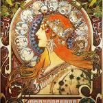 """Alphonse Mucha La Plume Zodiac Art Nouveau Vintage"" by masterpiecesofart"