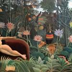 """Henri Rousseau The Dream Jungle Flowers Surrealism"" by masterpiecesofart"